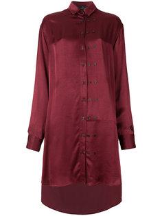 длинная блузка шифт  Marcelo Burlon County Of Milan