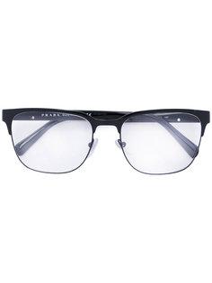 очки с квадратной оправой Prada Eyewear