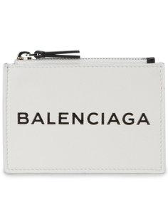 визитница с логотипом на молнии Balenciaga