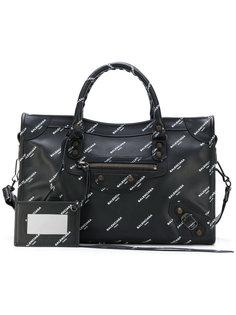 классическая мини-сумка-тоут с логотипом City Balenciaga