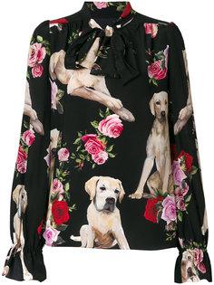 блузка с принтом Mimmo Dolce & Gabbana