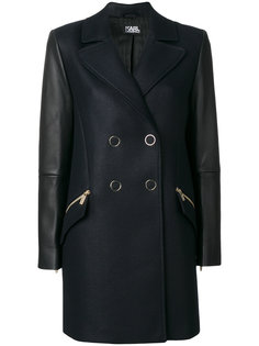 двубортное пальто  Karl Lagerfeld