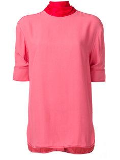 блузка с лентой на вороте  Marni