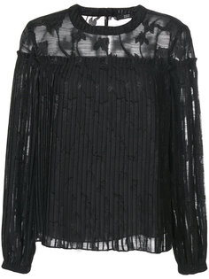 полупрозрачная блузка с цветочной вышивкой  Steffen Schraut