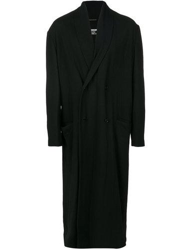 объемное пальто с запахом Yohji Yamamoto