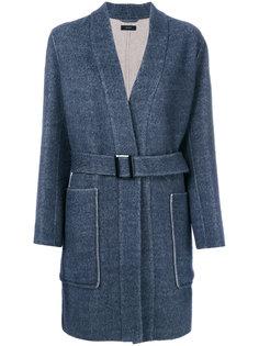 пальто с поясом и карманами  Joseph