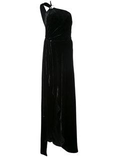 asymmetric maxi dress Mugler