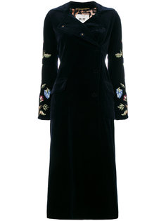 пальто с цветочной вышивкой  Bazar Deluxe