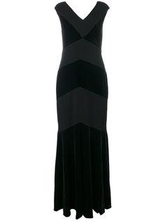 вечернее платье с V-образным вырезом Ralph Lauren