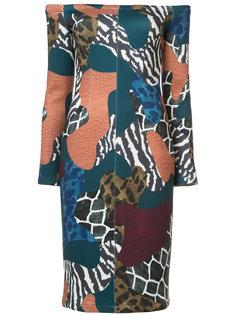 shoulderless patchwork dress Yigal Azrouel
