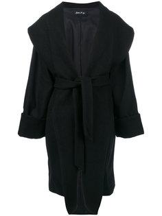 свободное пальто с поясом  Andrea Yaaqov