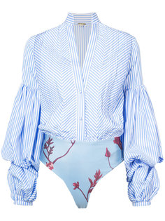 полосатое боди-рубашка Johanna Ortiz