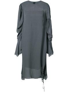 draped sleeves shift dress Vera Wang