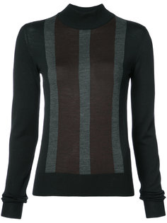 striped front slim-fit jumper Vera Wang