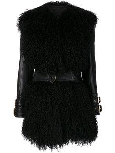куртка с меховой отделкой  Balmain