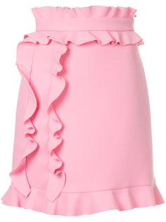 юбка с оборкой  MSGM