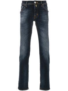 узкие джинсы с эффектом обесцвечивания Jacob Cohen