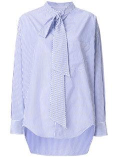 рубашка в тонкую полоску с логотипом  Balenciaga
