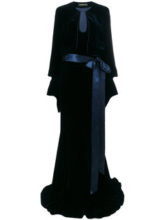 длинное платье с поясом  Alexandre Vauthier