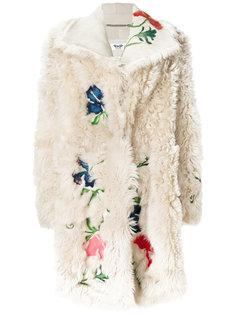 пальто с цветочной вышивкой Pihakapi