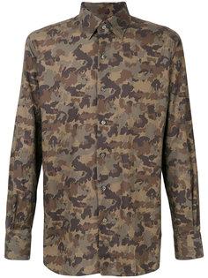 рубашка с камуфляжным принтом Tom Ford