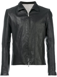 slim-fit leather jacket A Diciannoveventitre