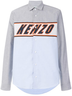 рубашка с трикотажной вставкой Kenzo
