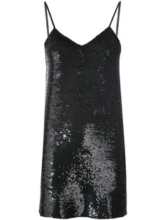 low back sequinned dress Ashish