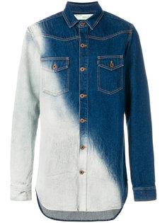 свободная джинсовая рубашка Off-White