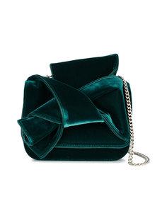 бархатная сумка через плечо с бантом Nº21