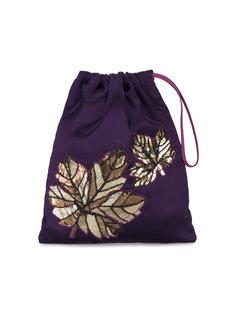 сумка-мешок с вышивкой листьев Attico