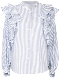 рубашка в полоску с оборками  Estnation
