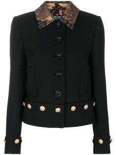 куртка с отделкой на воротнике  Dolce & Gabbana