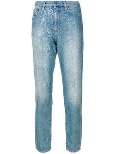 джинсы с блестками и завышенной талией  Mira Mikati