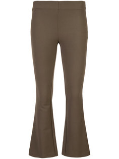 fitted cropped flared trousers Dusan