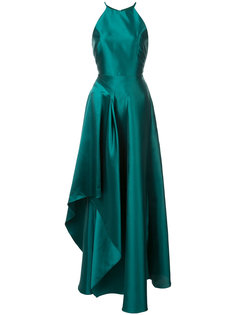 asymmetric night gown Badgley Mischka