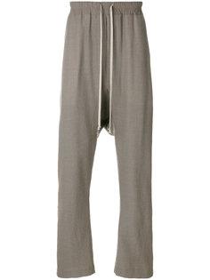 спортивные брюки с заниженной проймой Rick Owens