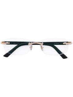 очки в прямоугольной оправе Cartier