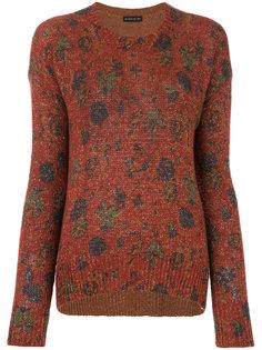 свитер с круглым вырезом и узором  Etro