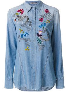 рубашка с вышивкой  Ermanno Scervino