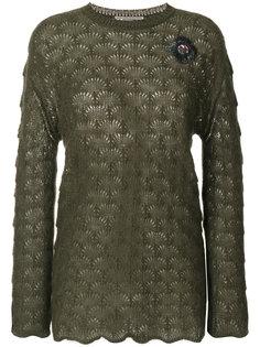 свитер с вышивкой  Ermanno Scervino