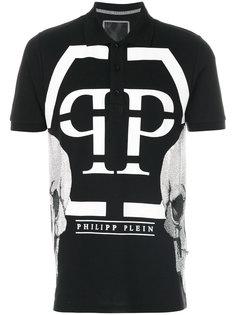 рубашка-поло с принтом с логотипом Philipp Plein