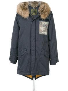 пальто с капюшоном с меховой оторочкой Alessandra Chamonix