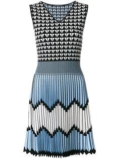 плиссированное платье с принтом  Antonino Valenti