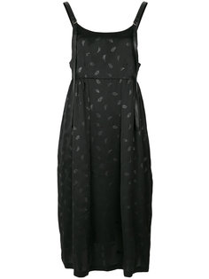 dress with leather leaf print  Comme Des Garçons Noir Kei Ninomiya