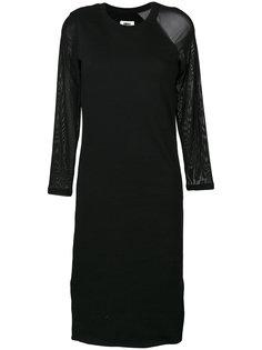 платье-толстовка с полупрозрачными рукавами  Mm6 Maison Margiela