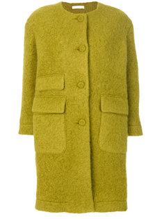 приталенное пальто на пуговицах  Peter Jensen