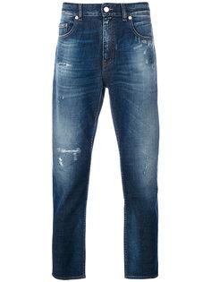 выбеленные джинсы прямого кроя Love Moschino
