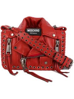 сумка в форме байкерской куртки Moschino