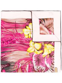 шарф с принтом цветов и листьев Salvatore Ferragamo